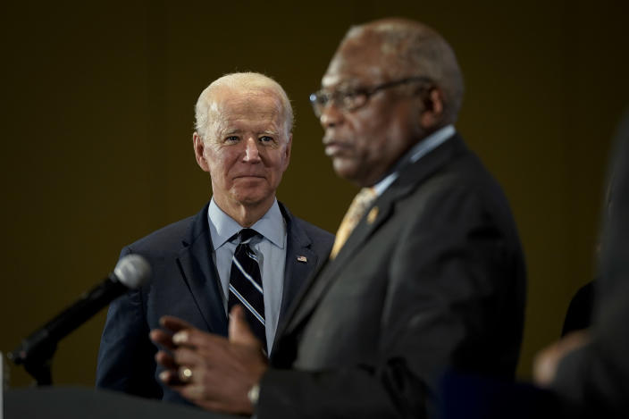 Joe Biden with James Clyburn