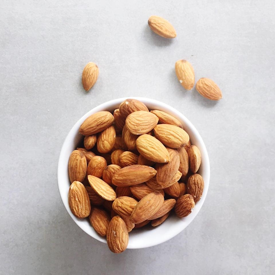 "<p>Almonds contain healthy fats, magnesium, vitamin E, fiber, calcium, and protein, making this healthy snack a nutritional powerhouse for anyone, and especially those with PCOS. ""[Almonds] are heart healthy, prevent blood sugar and insulin spikes, and keep you feeling full longer,"" McKittrick explained.</p>"