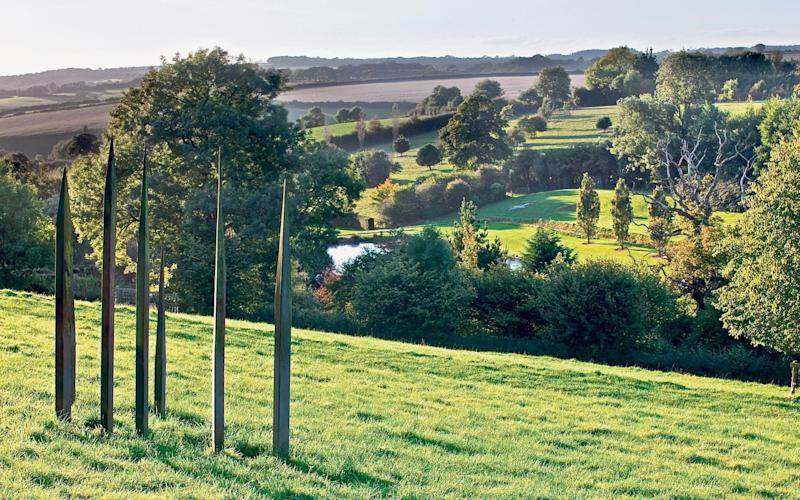 Making a point: View across the valley and garden from the 'Dragon's Teeth' - Neil Hepworth