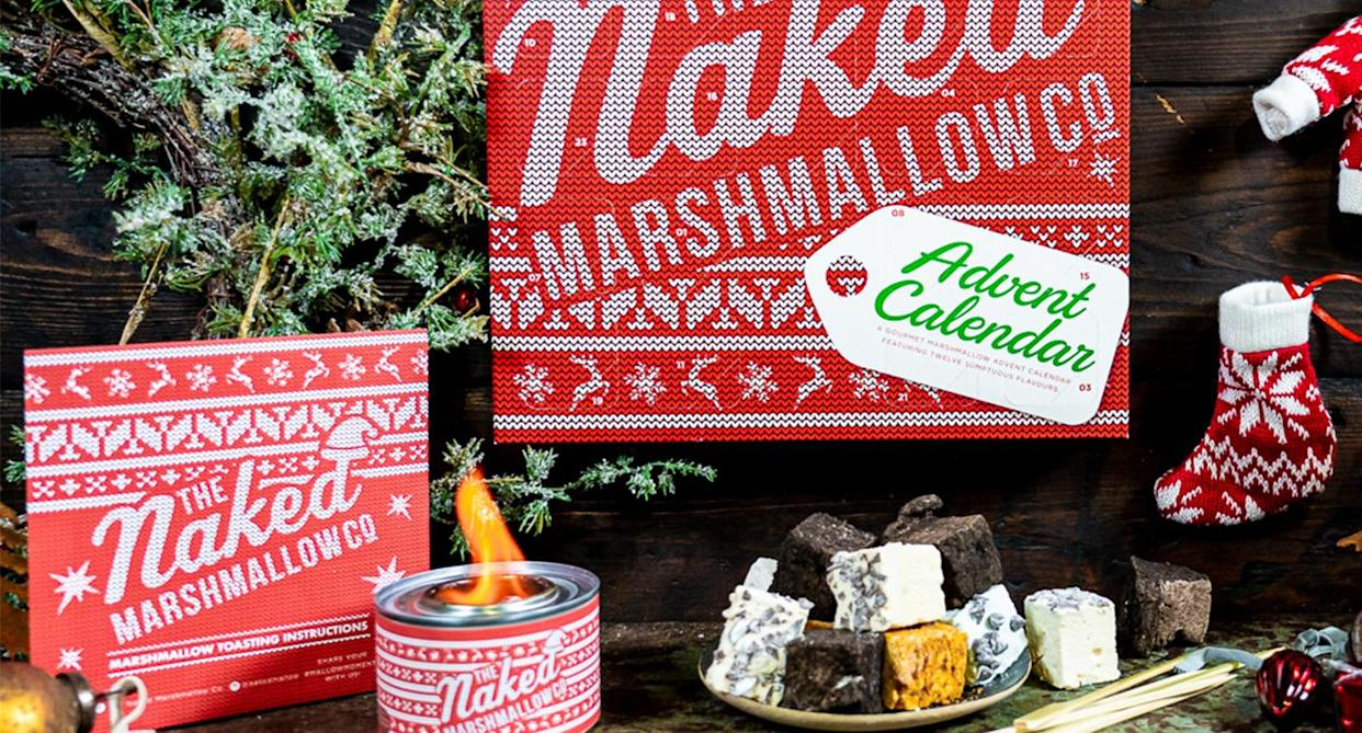 Surprise a loved one with a unique advent calendar this Christmas. (The Naked Marshmallow Co)
