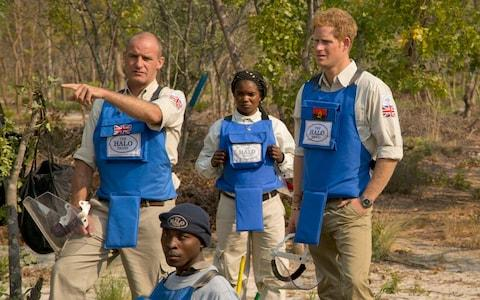 Prince Harry in Angola in 2013 - Credit: PA