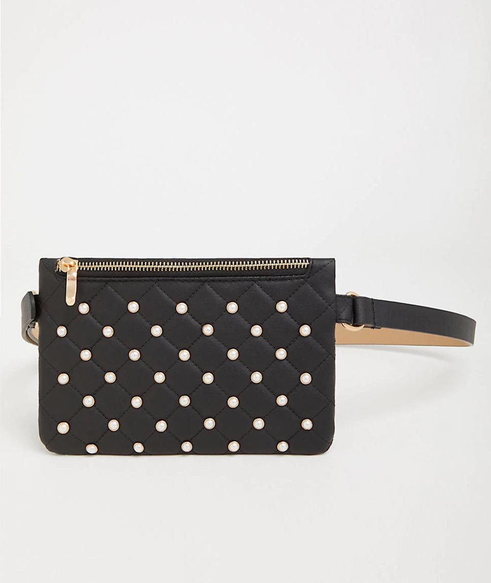 "<p>Waist purses have made an official comeback, and this cute embellished one from Torrid goes up to a size 28 and will keep your hands free in style.<br><a href=""https://fave.co/2QRbI2D"" rel=""nofollow noopener"" target=""_blank"" data-ylk=""slk:Shop it:"" class=""link rapid-noclick-resp""><strong>Shop it:</strong></a> Torrid Quilted Pearl Belt Bag, $15 (was $25), <a href=""https://fave.co/2QRbI2D"" rel=""nofollow noopener"" target=""_blank"" data-ylk=""slk:torrid.com"" class=""link rapid-noclick-resp"">torrid.com</a> </p>"