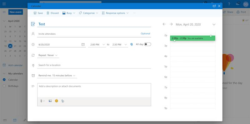 How to send a calendar invite in Outlook 3