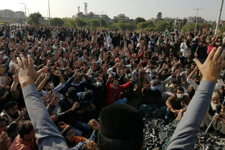 Ultra-conservative Pakistan has seen scattered protests since French President Emmanuel Macron defended the right to criticise Islam as part of freedom of speech