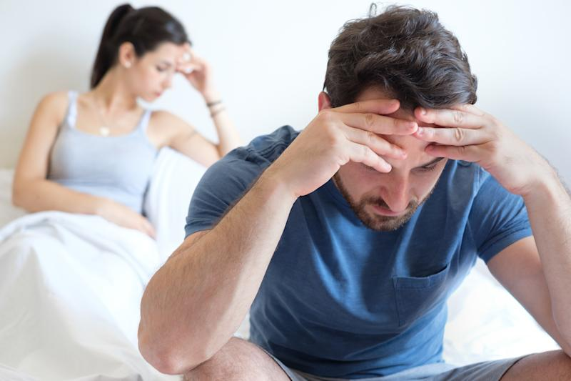 Couple having problem and feeling sad after big argument