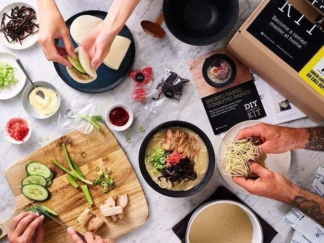 """<p>That's it, life is now complete: we can have ramen sent to our doors. Ok, so there is a little cooking involved – but since all the chefs at Shoryu have prepped everything to a tee, you can don't have to be profesh to make it taste delicious. </p><p>So if you can't make it into London to visit your fave Japanese restaurant or know from experience that ramen doesn't exactly travel well (sloppy AF for delivery drivers), you're going to be veeeerrrry happy this little DIY kit came along.</p><p>How does it work exactly? The whizzes at Shoryu have created a delicious pork stock that arrives solid and gelatinous in a plastic packet (dw, there's also a vegan option without all the bone boiling and that), then dissolves into a flavoursome broth once you add water. </p><p>Everything is pre-chopped to restaurant-standard levels (how do they do it!?), so then all you do is fry up your meat and arrange your veg on top. Voilà, the real deal ready in about five minutes. Perfect for date nights, gals dinners or treating yourself on a rainy day.</p><p>This kit is available from The Japan Centre's (an absolute gem of a shop/foodhall, we suggest you visit once this is all over) online shop. Kits for two people start from £20 and there are vegan and gluten free versions available.</p><p><a class=""""link rapid-noclick-resp"""" href=""""https://go.redirectingat.com?id=127X1599956&url=https%3A%2F%2Fwww.japancentre.com%2Fen%2Fcategories%2F11328-diy-shoryu-kits&sref=https%3A%2F%2Fwww.cosmopolitan.com%2Fuk%2Fworklife%2Fg32206972%2Fbest-meal-delivery-kits%2F"""" rel=""""nofollow noopener"""" target=""""_blank"""" data-ylk=""""slk:SHOP HERE"""">SHOP HERE</a></p><p><a href=""""https://www.instagram.com/p/CECV7RpjTSC/?utm_source=ig_embed&utm_campaign=loading"""" rel=""""nofollow noopener"""" target=""""_blank"""" data-ylk=""""slk:See the original post on Instagram"""" class=""""link rapid-noclick-resp"""">See the original post on Instagram</a></p>"""