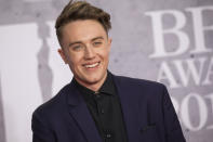 Roman Kemp poses for photographers upon arrival at the Brit Awards in London, Wednesday, Feb. 20, 2019. (Photo by Vianney Le Caer/Invision/AP)
