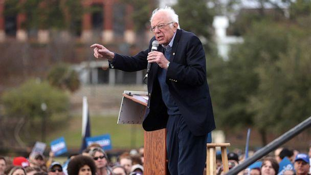 PHOTO: Democratic presidential candidate Senator Bernie Sanders rallies with supporters in Columbia, SC., Feb. 28, 2020. (Jonathan Ernst/Reuters)