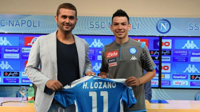 Napoli presented Hirving Lozano as their new player on Tuesday, with the Mexican adamant they were the only club for him.