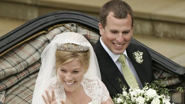 Peter Phillips and Autumn Kelly on their wedding day