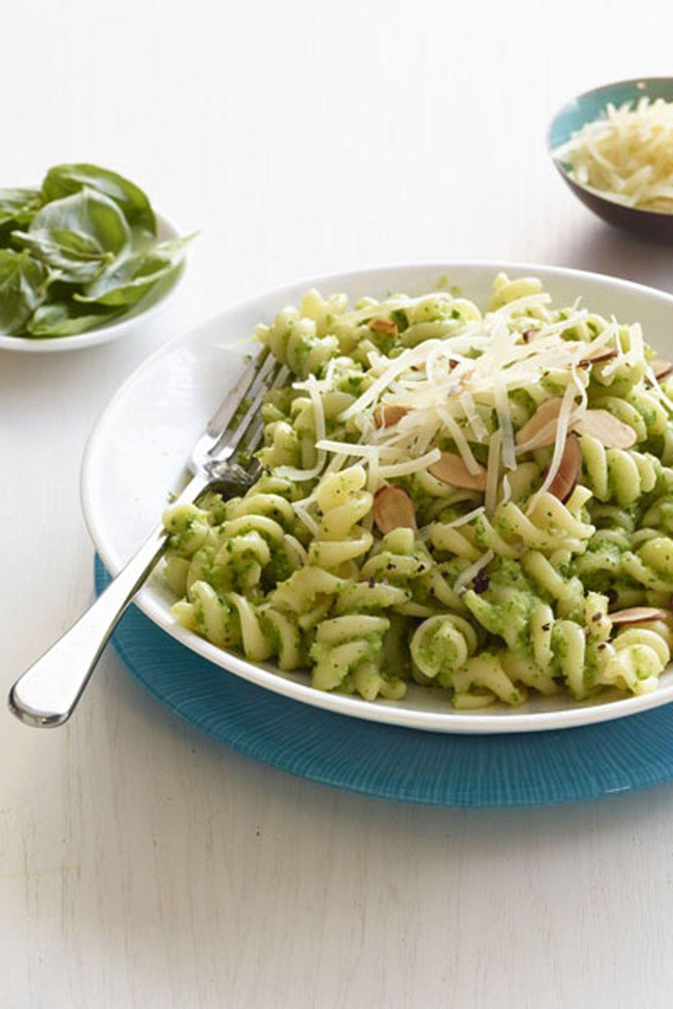 "Broccoli pesto packs more nutrition <em>and</em> flavor than the typical herb variety. <a href=""https://www.countryliving.com/food-drinks/recipes/a34743/fusilli-broccoli-pesto-recipe-wdy0115/"" rel=""nofollow noopener"" target=""_blank"" data-ylk=""slk:Get the recipe."" class=""link rapid-noclick-resp""><strong>Get the recipe.</strong> </a><br> <a href=""https://www.amazon.com/Hamilton-Beach-70740-8-Cup-Processor/dp/B00755KNCS?tag=syn-yahoo-20&ascsubtag=%5Bartid%7C10050.g.1186%5Bsrc%7Cyahoo-us"" class=""link rapid-noclick-resp"" rel=""nofollow noopener"" target=""_blank"" data-ylk=""slk:SHOP FOOD PROCESSORS"">SHOP FOOD PROCESSORS</a>"