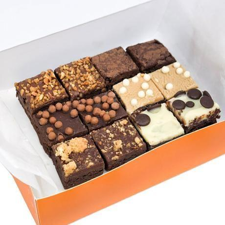 "<p>Available in boxes of 12 or 24, indulge in a variety of mini brownies with a delicious mix of white chocolate, peanut butter and more. </p><p><a class=""link rapid-noclick-resp"" href=""https://cutterandsquidge.com/products/mixed-brownie-selection-box?variant=35070839554200&gclid=CjwKCAiA17P9BRB2EiwAMvwNyN-JaI_Q9OnfBDDIGovf7RIGrwAPqV1F8emJlbTmFbCM_BYFRhr0-hoC-d4QAvD_BwE"" rel=""nofollow noopener"" target=""_blank"" data-ylk=""slk:BUY NOW"">BUY NOW</a> <strong>£13.90</strong></p>"