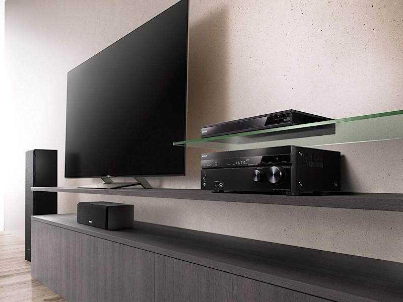 This surround sound receiver is perfect for any home theater. (Photo: Amazon)