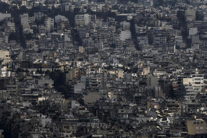 A view shows the cityscape of Athens, Greece