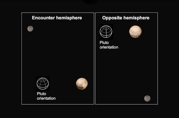 NASA's New Horizons spacecraft returned images showing two very different faces of the mysterious dwarf planet Pluto.