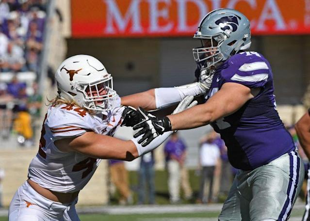 Frantz is Kansas State's starting left tackle. (Getty)