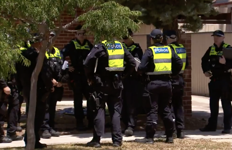 Police are urging anyone with information about the altercation to come forward. Source: Nine News.