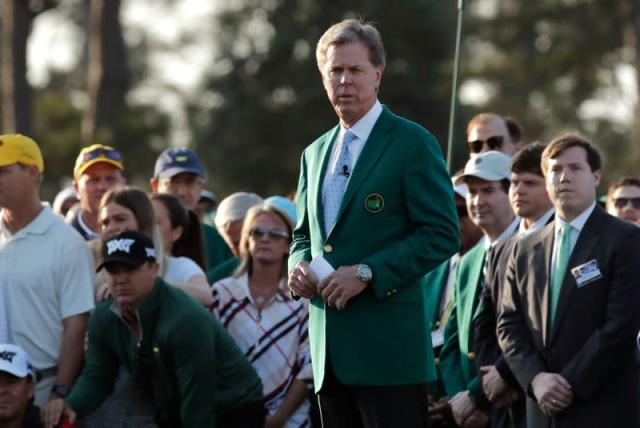 FILE PHOTO: Chairman of the Augusta National Golf Club and the Masters Tournament Ridley attends the ceremonial start on the first day of play at the 2019 Master golf tournament at the Augusta National Golf Club in Augusta, Georgia, U.S.
