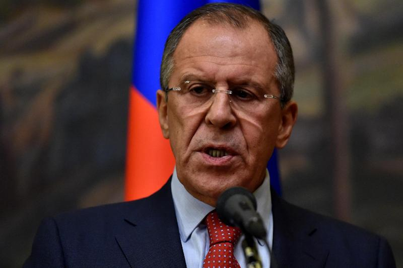 Russian Foreign Minister Sergei Lavrov, seen here in Moscow on October 6, 2014, says Russia will recognise elections in east Ukraine (AFP Photo/Kirill Kudryavtsev)