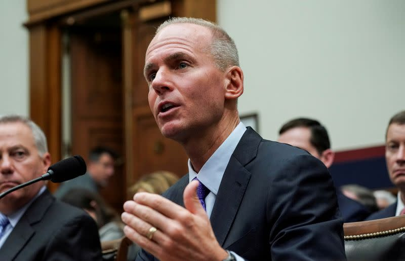 FILE PHOTO: Dennis Muilenburg testifies before the House