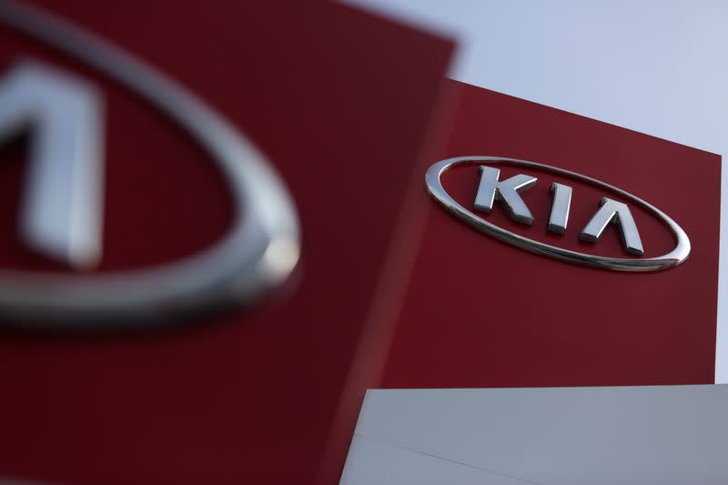 FILE PHOTO: Signs of a KIA Motor car dealership are pictured in Monterrey