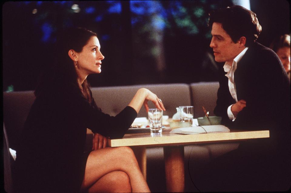 "1999 Julia Roberts And Hugh Grant Star In The Premiere Of ""Notting Hill.""  (Photo By Getty Images)"