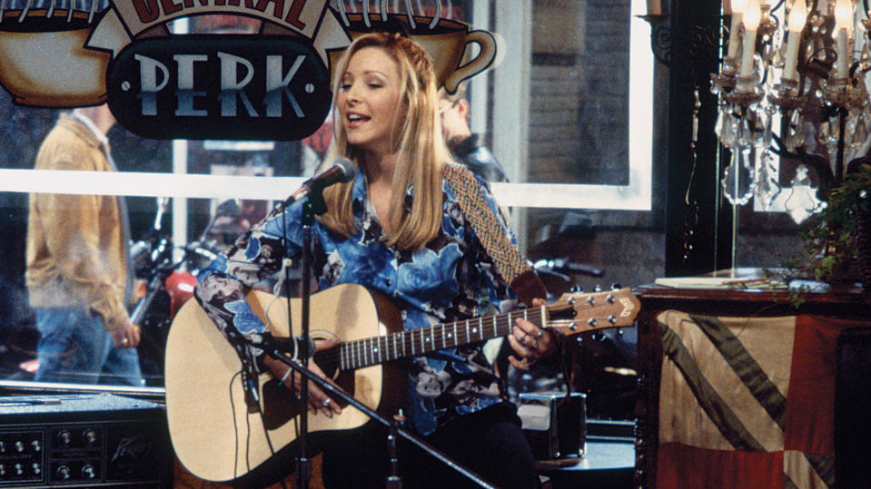 Lisa Kudrow's guitar skills were a little bit rusty prior to the 'Friends' reunion show. (Brian D. McLaughlin/NBCU Photo Bank/NBCUniversal/Getty Images)