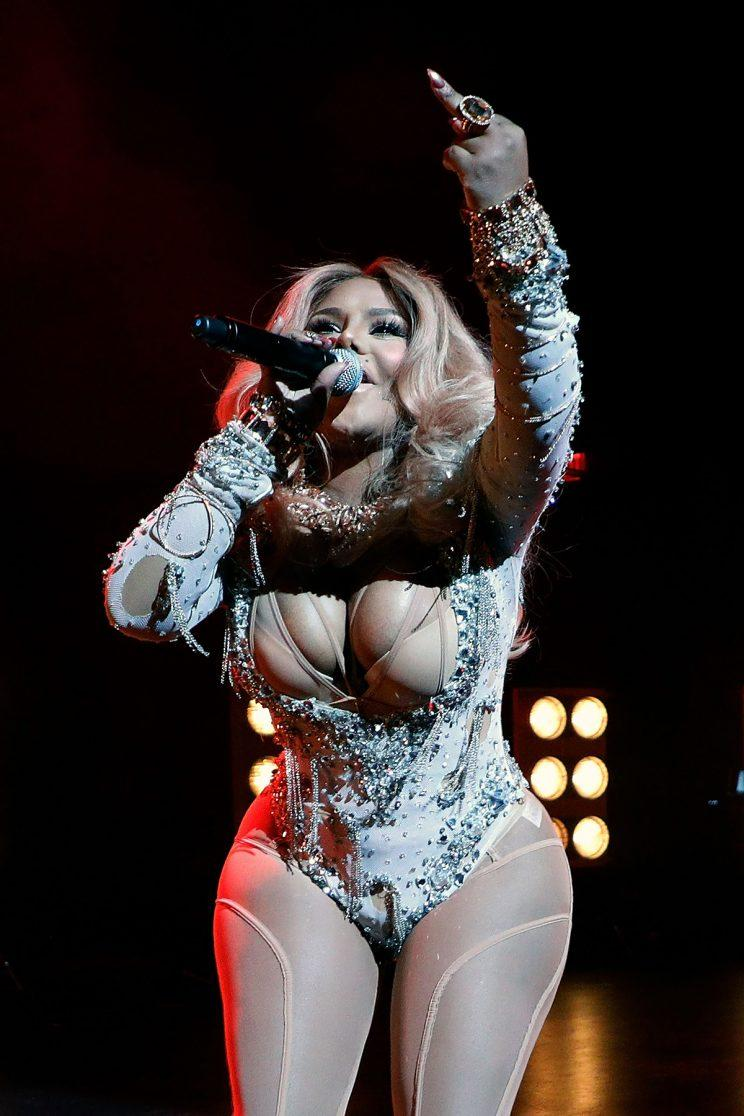 Lil Kim performs during the concert celebrating