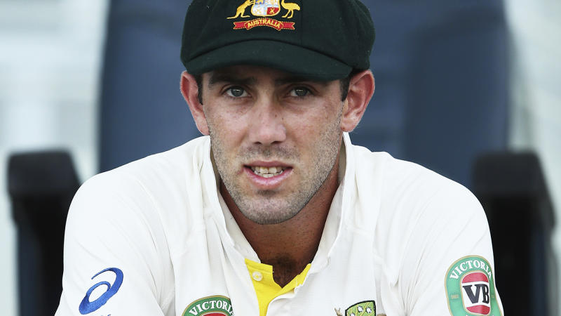 Glenn Maxwell during a stint in the Test side in 2014. More