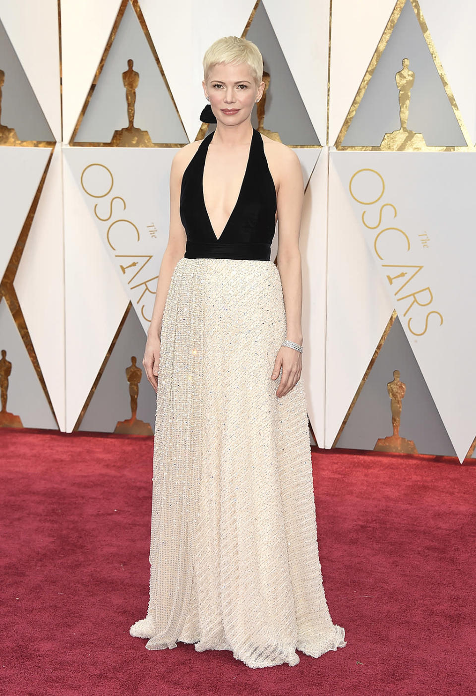 <p>Michelle Williams arrives at the Oscars on Feb. 26, 2017, at the Dolby Theatre in Los Angeles. (Photo by Jordan Strauss/Invision/AP) </p>