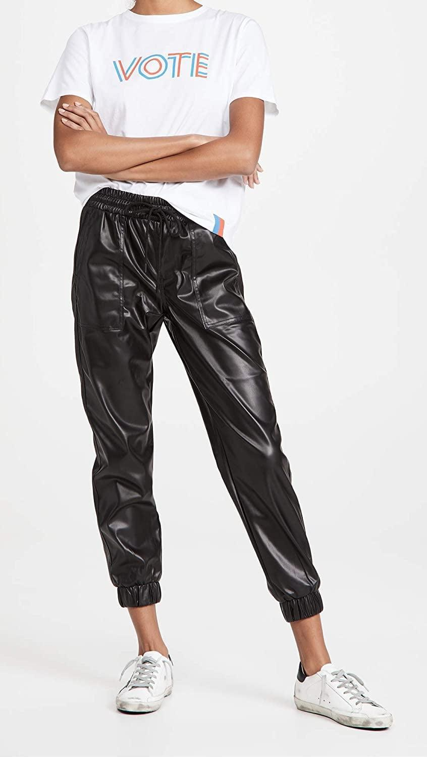 <p>Leather pants are such a fun fall staple. We like that these <span>[BLANKNYC] Patch Pocket Jogger Pants</span> ($98) are the perfect mix of casual and elevated.</p>