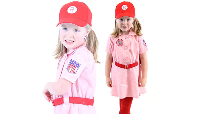 Sibling Halloween costumes: The Rockford Peaches