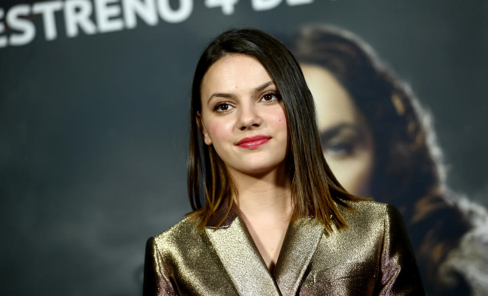 Dafne Keen attends 'La Materia Oscura' Madrid Photocall on October 26, 2019. (Photo by Samuel de Roman/Getty Images)