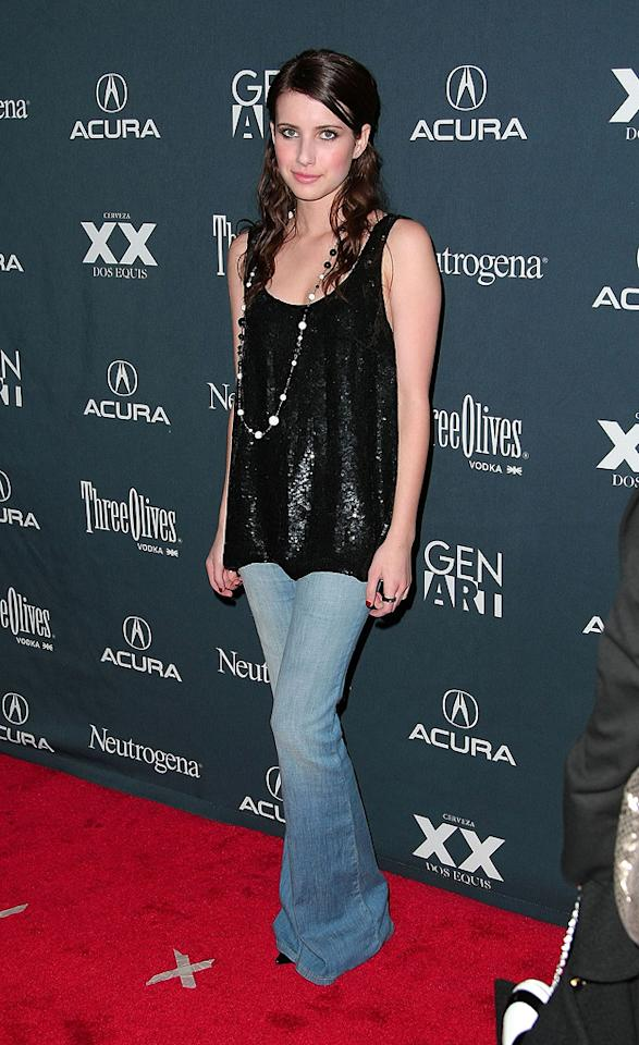 """<a href=""""http://movies.yahoo.com/movie/contributor/1804508466"""">Emma Roberts</a> at the 14th Annual Gen Art Festival screening of <a href=""""http://movies.yahoo.com/movie/1808744530/info"""">Lymelife</a> - 04/01/2009"""