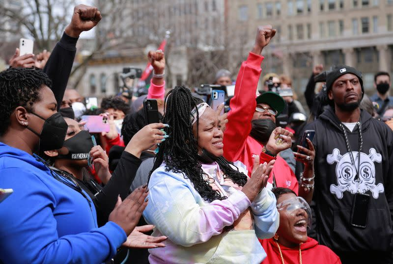Rally to mark one year since Breonna Taylor was shot and killed by police, in Louisville