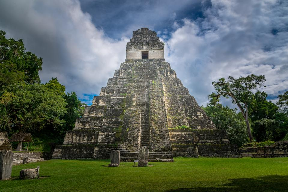 Pyramid of Tikal, a famous mayan site in Guatemala