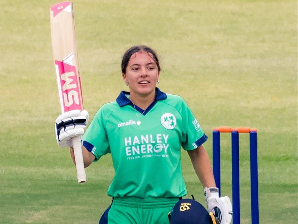 Amy Hunter is the youngest ever player to score a century in a one-day international (Cricket Ireland Handout/PA) (Cricket Ireland)