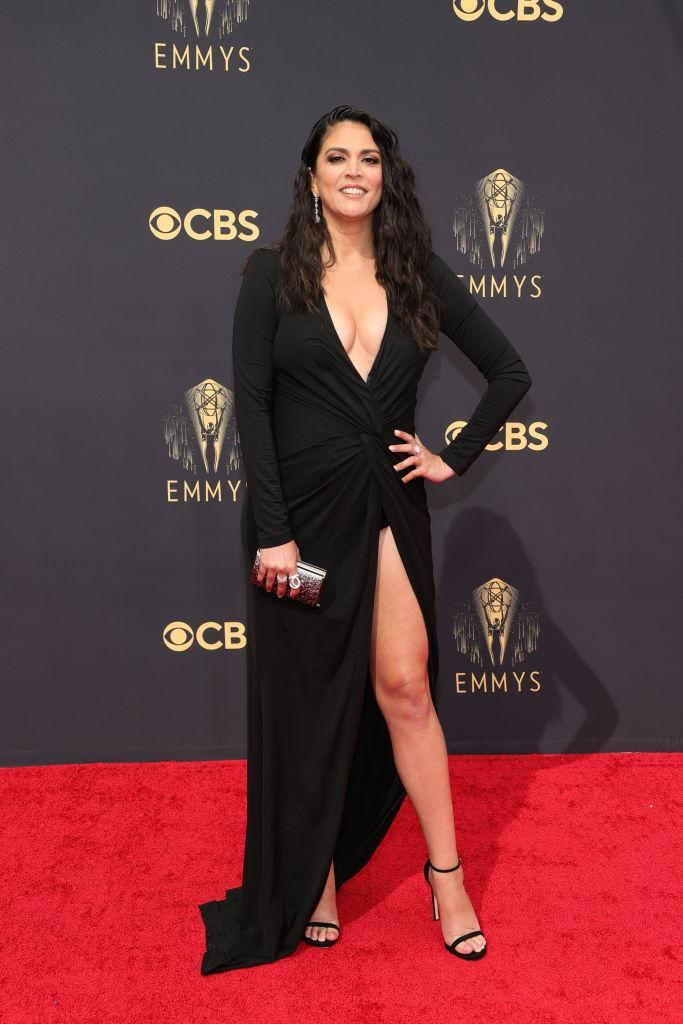 Cecily Strong attends the 73rd Primetime Emmy Awards on Sept. 19 at L.A. LIVE in Los Angeles. (Photo: Rich Fury/Getty Images)