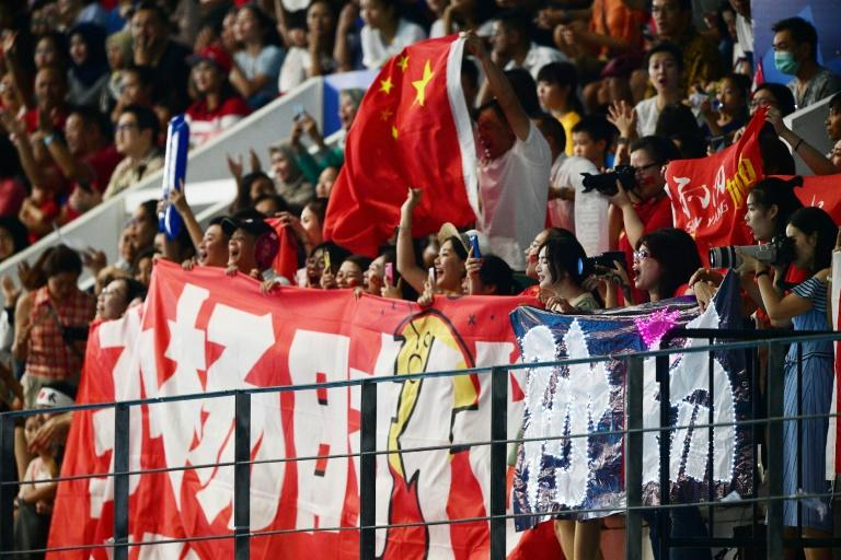 Sun Yang's supporters have been much in evidence at the Asian Games