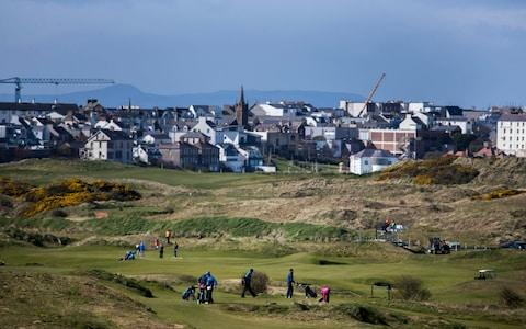 <span>The links at Portrush is located close to the town</span> <span>Credit: PA </span>