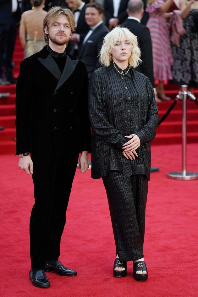 Finneas O'Connell and Billie Eilish walk the red carpet. (Photo: Jonathan Brady - PA Images via Getty Images)