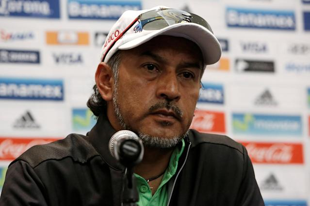 Football Soccer - Mexico's news conference - 2016 Rio Olympics - Mexico City, Mexico - 12/08/16 - Mexico's national soccer team head coach Raul Gutierrez looks on during a news conference upon his arrival from Brazil. REUTERS/Ginnette Riquelme