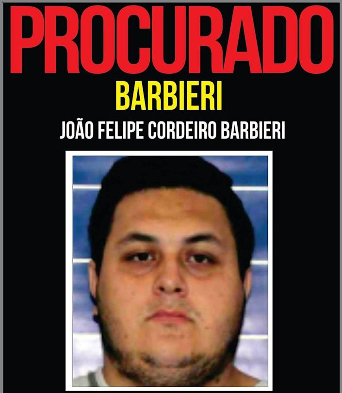 Barbieri's wanted poster