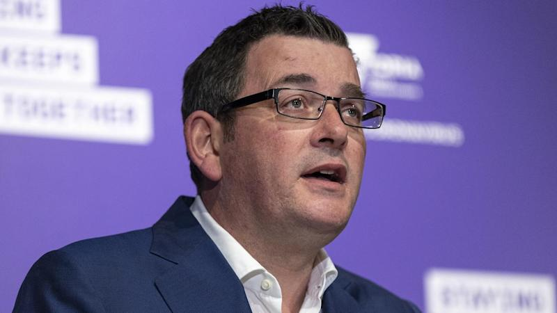 Premier Daniel Andrews announced the easing of restrictions for some major sports in Victoria