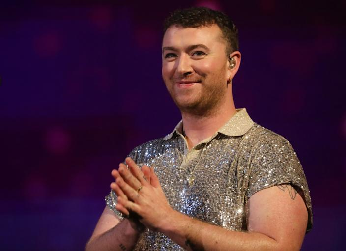 Sam Smith performing during the filming for the Graham Norton Show at BBC Studioworks 6 Television Centre, Wood Lane, London, to be aired on BBC One on Friday evening. (Photo by Isabel Infantes/PA Images via Getty Images)