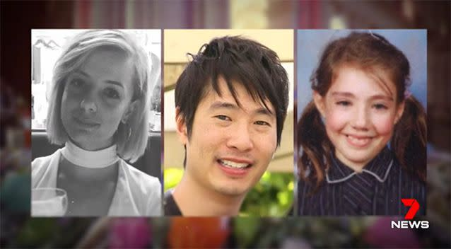 Three of the victims have been identified as Jess Mudie, Matthew Si and Thalia Hakin. Photo: 7 News/Supplied