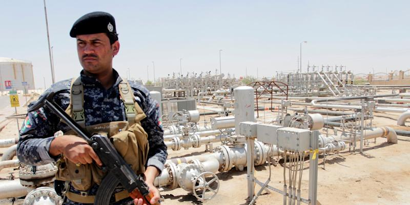 iraq oil security guard