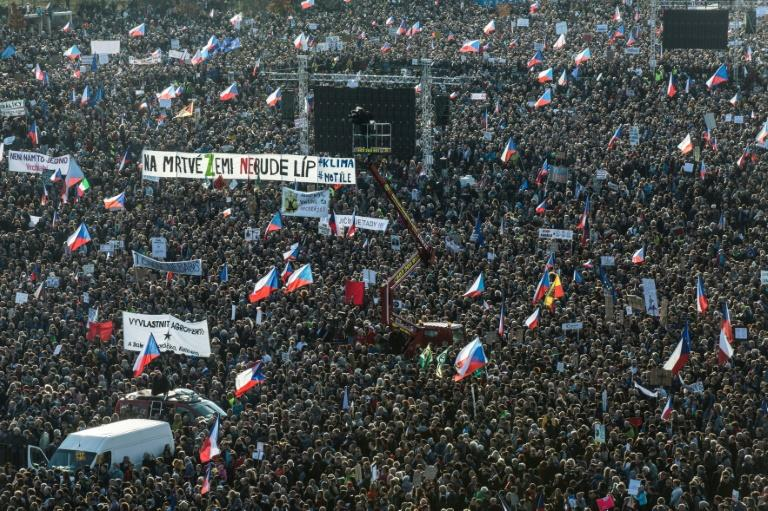 Czechs have staged two mass protests this year, demanding Babis step down (AFP Photo/Michal Cizek)