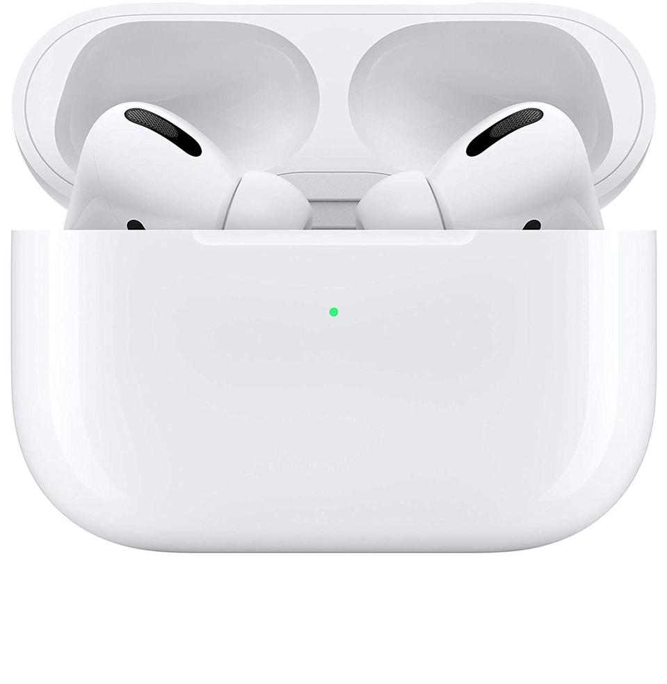 "<p><strong>Apple</strong></p><p>amazon.com</p><p><strong>$199.00</strong></p><p><a href=""https://www.amazon.com/Apple-MWP22AM-A-AirPods-Pro/dp/B07ZPC9QD4?tag=syn-yahoo-20&ascsubtag=%5Bartid%7C10054.g.36039315%5Bsrc%7Cyahoo-us"" rel=""nofollow noopener"" target=""_blank"" data-ylk=""slk:Buy"" class=""link rapid-noclick-resp"">Buy</a></p><p>She's going to need these—for commuting on loud trains, for fielding Zoom meetings, for calling home, and for drowning out the world when she needs a minute alone with a really good song.</p>"