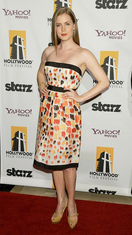 """<a href=""""http://movies.yahoo.com/movie/contributor/1800018895"""">Amy Adams</a> at the 12th Annual Hollywood Film Festival Awards Gala in Beverly Hills - 10/27/2008"""